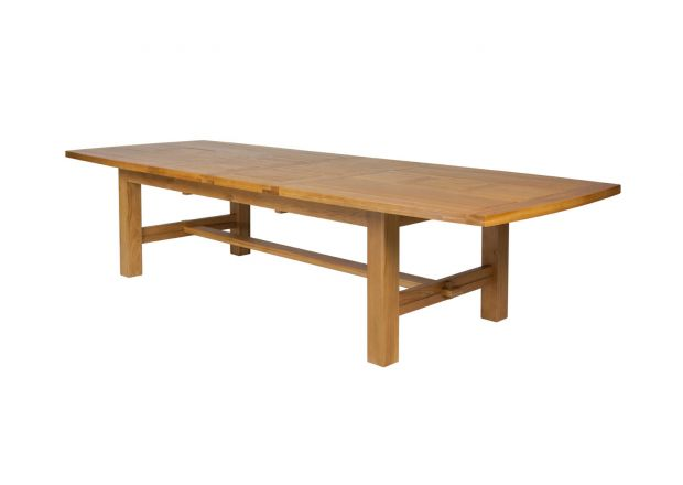 Chateaux 3.4m Large Solid Oak Extending Dining Table - JANUARY SALE