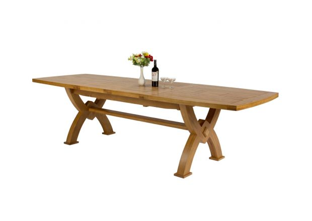 Monastery 3.0m Large Solid Oak Extending Dining Table