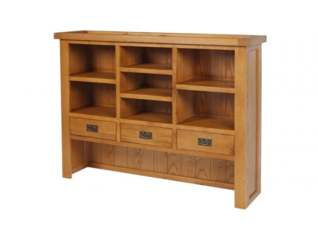 Country Oak Large 140cm Hutch Unit for combining with sideboard