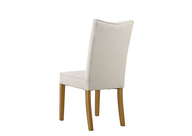 Windsor Beige Fabric Dining Chair with Oak Legs - WINTER SALE
