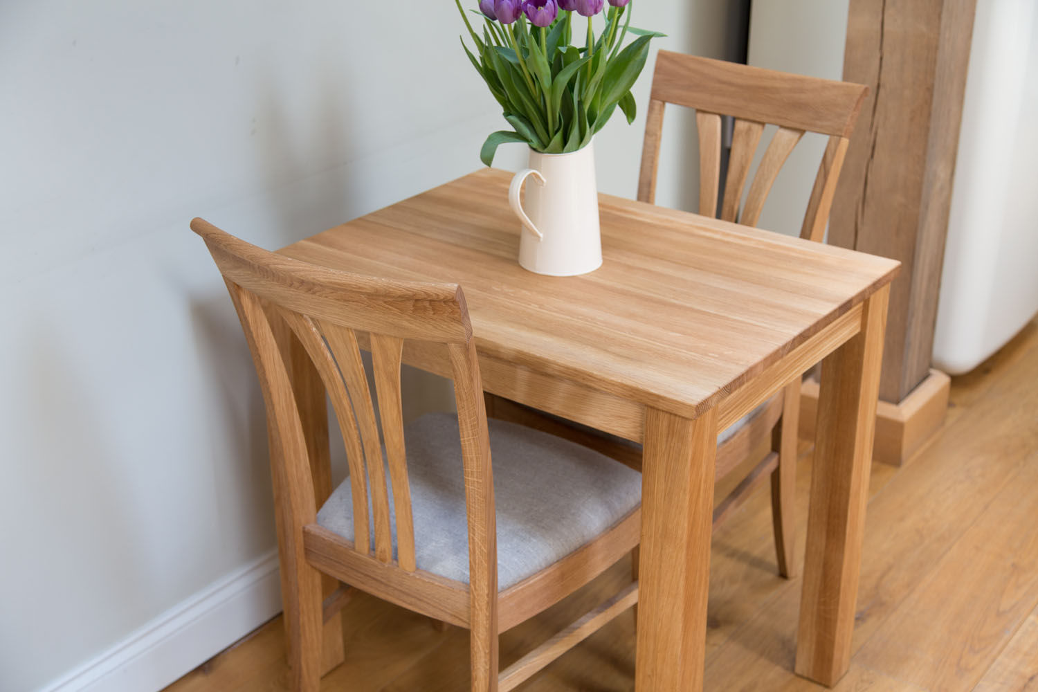 Fantastic Small Solid Oak Dining Table Minsk 80Cm X 60Cm 2 Seater Home Interior And Landscaping Ologienasavecom
