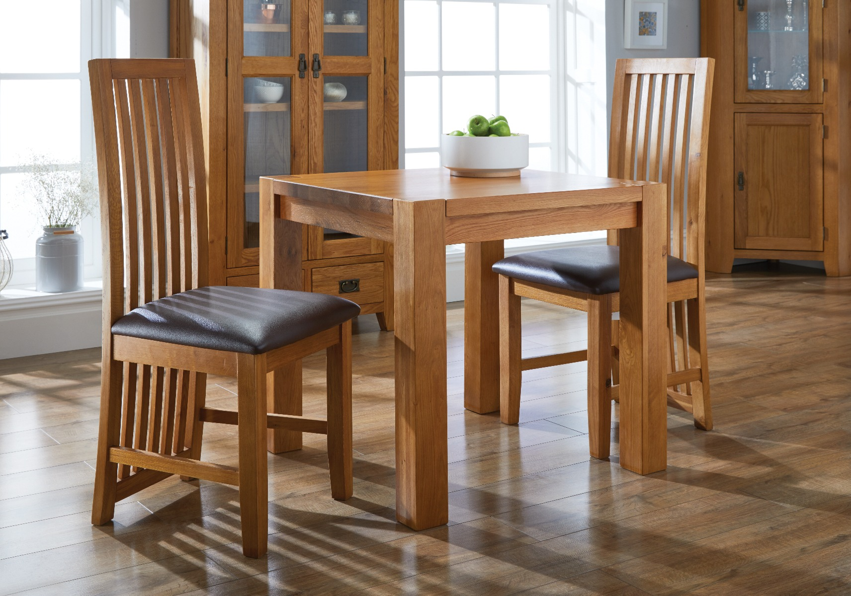 oak dining room furniture country oak range of tables and chairs from Top Furniture