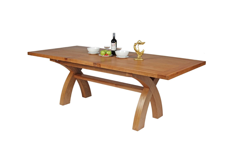 Butterfly extending cross leg table 8 seater rustic oak table watchthetrailerfo