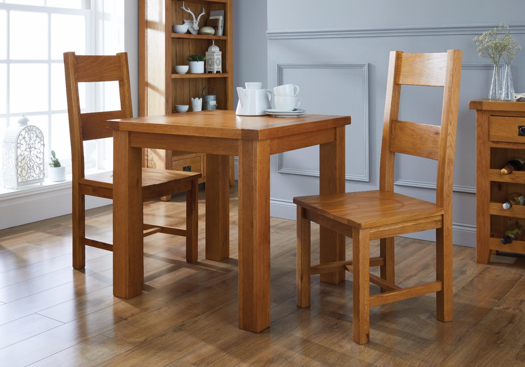 best website 3b65e b5034 Country Oak 80cm Small Square Oak Dining Table