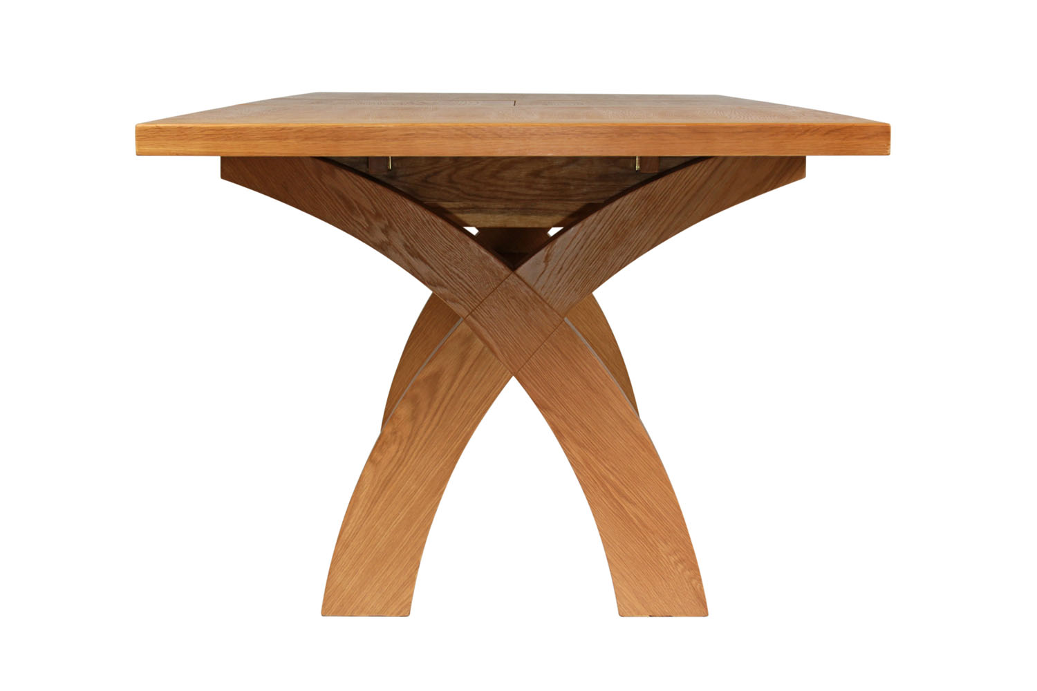 Large Cross Leg Extending 10 Seater Oak Dining Table   Free Delivery | Top  Furniture