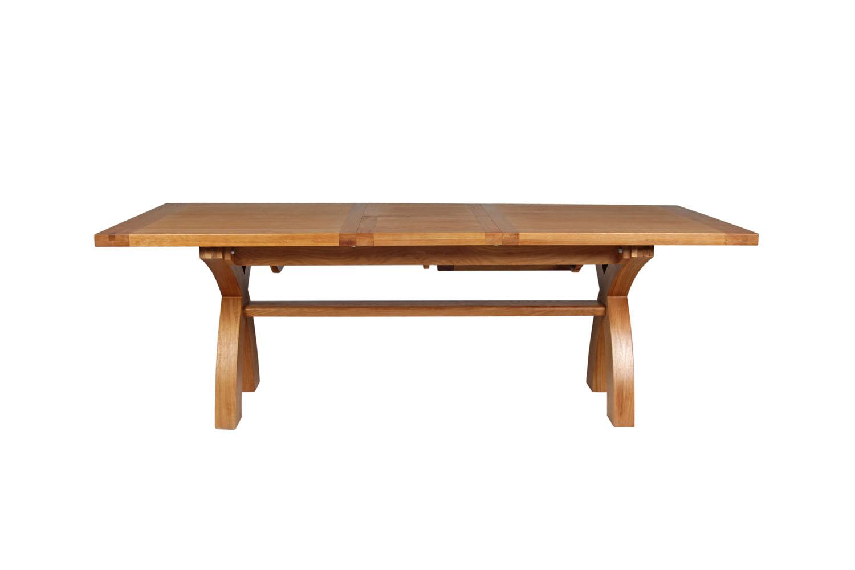 Large cross leg extending 10 seater oak dining table free delivery large cross leg extending 10 seater oak dining table free delivery top furniture watchthetrailerfo