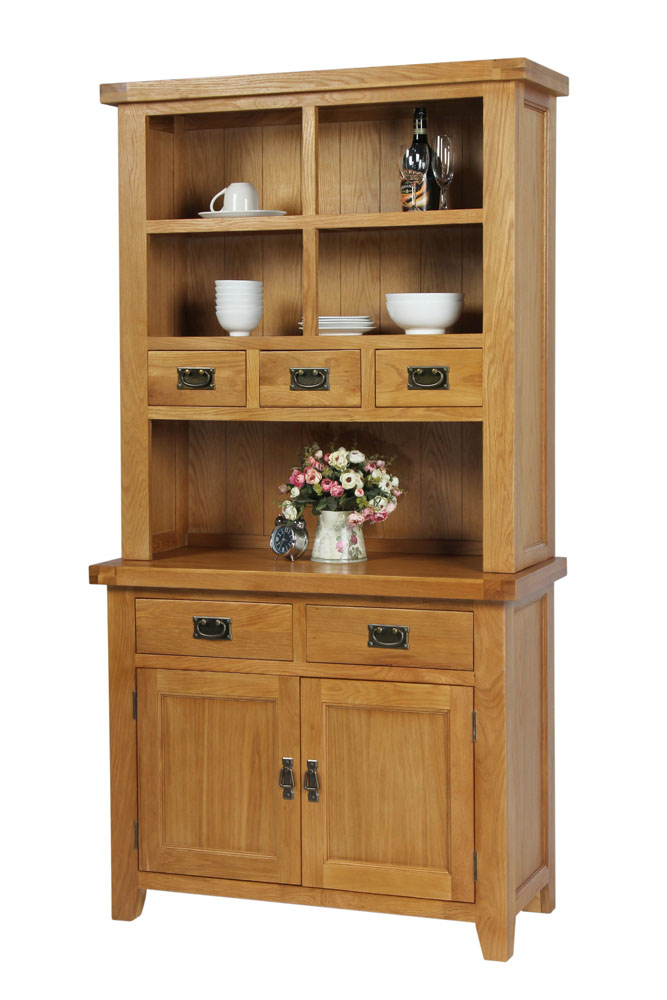 Terrific Country Oak Small 100Cm Hutch For Combining With Sideboard Summer Sale Home Interior And Landscaping Analalmasignezvosmurscom